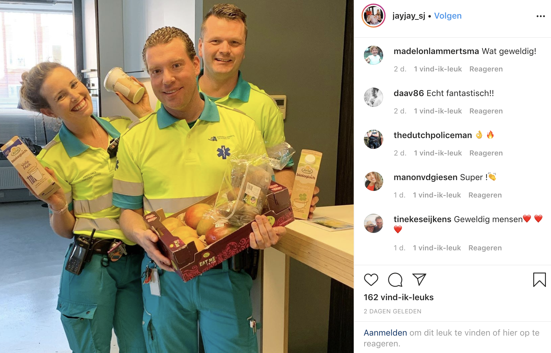 Thuisbezorgd.nl – Verrassingsbezoek aan ambulance personeel in Amsterdam